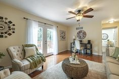 This gorgeous family room/home office is in the perfect home for a young family in Chesterfield, Missouri. Home Staging Companies, Young Family, St Louis, Home Office, Family Room, Home Decor, Decoration Home, Room Decor
