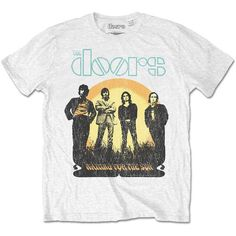 The Doors Waiting for the Sun White T-shirt Official Licensed Music. This item is perfect for any The Doors fans wanting to own official merchandise from the To