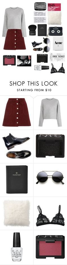 """Still can't believe you left in peace, left me in peices"" by bossbby11 ❤ liked on Polyvore featuring Miss Selfridge, T By Alexander Wang, Chanel, NARS Cosmetics, FOSSIL, Pottery Barn, OPI, Givenchy, women's clothing and women's fashion"