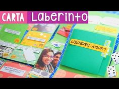 CARTA LABERINTO: Regalo original para amiga o novio (Fácil) ✄ Craftingeek - YouTube