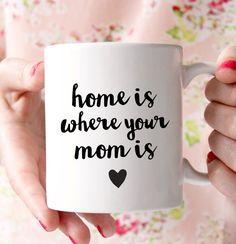 Home Is Where Your Mom Mug