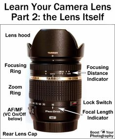 Learn Your Camera Lens: part 2 the lens