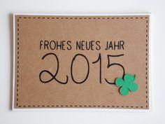 Handgemachte Neujahrskarte '2015' von höchst originell auf DaWanda.com