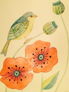 Wildlife in Inks & Watercolours