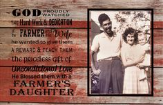 Farmer Daughter Wood Sign or Canvas Wall Art - Christmas, Mother's Day, Graduation, Wedding, etc.