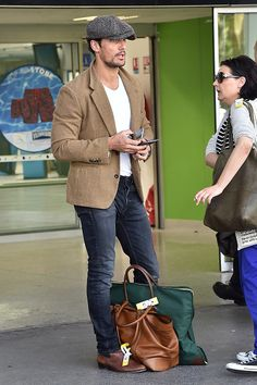 #DavidGandy is seen at Nice Airport || 22/05/15