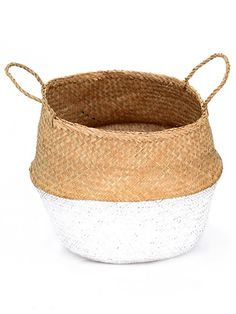 Seagrass Belly Basket, Dipped White | Beautiful and functional, Seagrass Belly Baskets (known as Panier Boule in French) are this seasons must-have when it comes to home decoration. With endless use