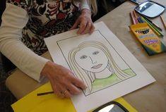 Art club: steps to teaching how to draw self portraits