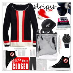 """""""STRIPES"""" by dragananovcic ❤ liked on Polyvore featuring Givenchy, Tommy Hilfiger, Moschino, NARS Cosmetics, H.I.P. and MANGO"""