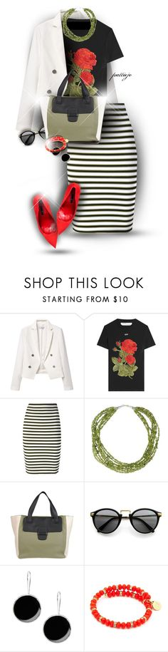 """""""Summer Forever"""" by rockreborn ❤ liked on Polyvore featuring MANGO, Off-White, A.L.C., NOVICA, Marc Jacobs, Calle, First People First and Chrysalis"""