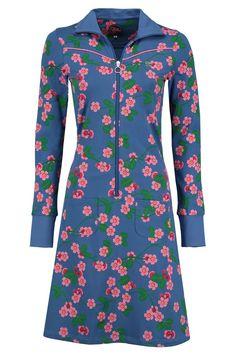 Tante Betsy Dress Sporty Cherry Blossom light blue licht blauw jurk kersen bloesem bloemen floral print