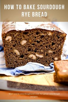A sourdough bread with plenty of rye, hazelnuts, and some honey. This is a characteristic bread that lets all tastes stand out. Sourdough Rye Bread, Sourdough Recipes, Bread Recipes, Baking, All You Need Is, Tasty, Bakken, Bakery Recipes, Backen