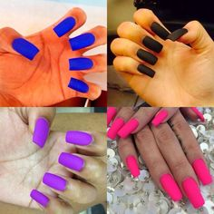 These nails are WAAAAY tooooo long for my style, but I love the matte colors!