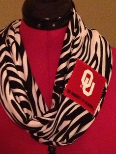 OU Sooners infinity scarf  on Etsy, $22.00