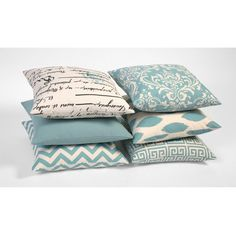 Light Blue & Beige Decorative Throw Zipper Pillow Cover Accent Pillow 16x16 18x18 20x20 And More-OIY3