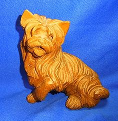 Vintage German Wood Carved Dog Figure / Figurine Decorative #I