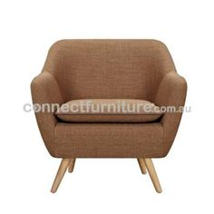 6IXTY LUXE ARMCHAIR - CAMEL MDSTFRCHA254