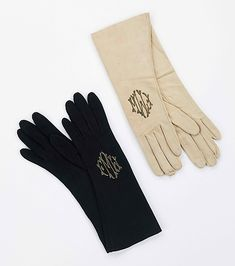 The Metropolitan Museum of Art - Monogrammed Leather Gloves 1930 - 1939