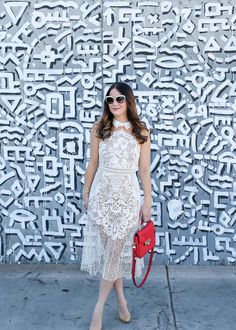 Self Portrait White Lace Dress