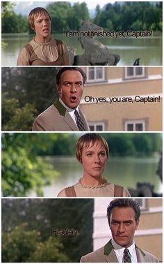 """The Sound of Music"" ~ A scene between Julie Andrews and Christopher Plummer (Maria and Captain Von Trapp). Sound Of Music Movie, Love Movie, Movie Tv, Sound Of Music Quotes, Julie Andrews, Old Movies, Great Movies, Movie Lines, Tv Quotes"