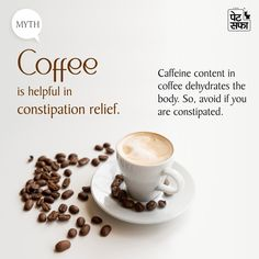 👉 We often think beverages like coffee and tea may provide relief from constipation, but it is not true. ✔️ These drinks dehydrate the body and may worsen the constipation conditions. Cure For Constipation, Constipation Remedies, Stomach Problems, Ayurvedic Medicine, Beverages, Drinks, Medicinal Herbs, Black Coffee, Herbalism