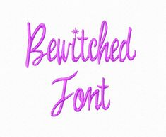 Machine Embroidery LOTS OF FONTS REASONABLE PRICED $2.95 Bewitched Font in 3 Sizes