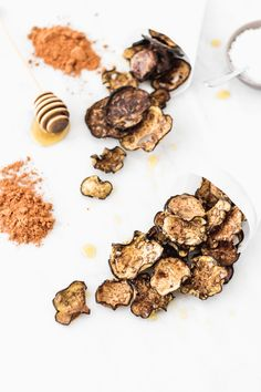 Aubergine or eggplant chips with honey | Cravings Journal