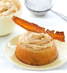 Peanut butter's deliciously creamy texture and nutty flavour is far more versatile than lunchbox sandwiches. Peanut Butter Frosting, Baby Cakes, Cornbread, Cake Recipes, Sweet Treats, Banana, Ethnic Recipes, Food, Conch Fritters