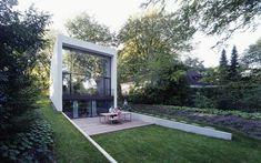 focus on backyard communal area Small World, Luxury Homes, Sidewalk, Backyard, Mansions, Landscape, House Styles, Building, Design