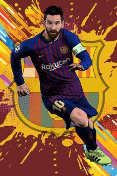 The best {arguably} footballer ever, barca's top scorer and argentina's best, Lionel Messi in vector illustration. The best in Spain Football Player Messi, Messi Soccer, Football Art, Cr7 Ronaldo, Cristiano Ronaldo, Messi Pictures, Messi Photos, Neymar Jr, Fotos Do Messi
