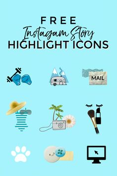 Free Instagram Story Highlight Icons - Sweet Teal