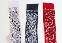 Red, White and Blue Bandana Headband - Cutesy Crafts Bandana Headband Tutorial, Bandana Headbands, Red Bandana, Diy Headband, Skinny Headbands, Thick Headbands, Bandanas, Bandana Crafts, Bandana Hairstyles