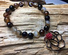 Bracelet en pierres semi précieuses, Creations, Beaded Bracelets, Jewelry, Crystal, Stones, Fantasy, Necklaces, Jewerly, Jewlery