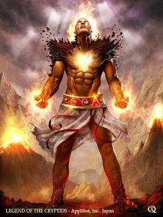 Purified Ifrit (Regular) by elGuaricho on DeviantArt Fantasy Art Men, Fantasy Races, Fantasy Warrior, Character Inspiration, Character Art, Character Design, Character Ideas, Dnd Characters, Fantasy Characters