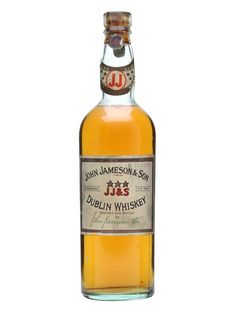 John Jameson & Son / 3 Star / Bot.1940s : Buy Online - The Whisky Exchange - A beautiful old bottle of Jamesons whiskey - labelled as John Jameson and Son Dublin Whiskey. Well preserved considering it was bottled in the 1940s.