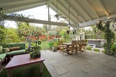 great patio or deck idea... could use craftsman or tudor style in beam placement