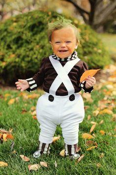 Oompa Loompa Baby Veruka Salt mommy & Willy Wonka daddy