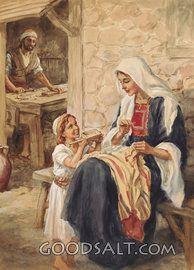 María y Niño Jesús fuera de Nazaret Inicio