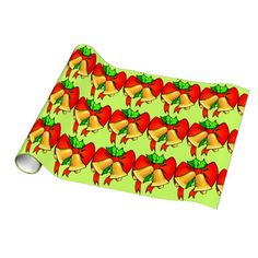 Bows and Bells Holiday Gift Wrapping Paper