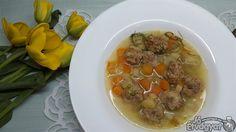 Snidlinges, zöldséges húsgombocleves Beef, Food, Meat, Essen, Meals, Yemek, Eten, Steak