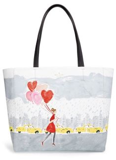 01be68a5991d fashion KATE SPADE SECRET ADMIRER HEART TAXI HALLIE TOTE BALLOONS BAG WORK  SCHOOL Kate Spade Totes