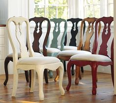 Have: 4 queen anne style chairs. Need: 2 more similar chairs. These would be perfect.