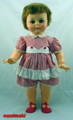 "1961-1964 Ideal Kissy vintage Doll 22"" ."