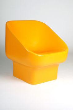 Douglas Deeds; Gel-Coated Fiberglass Chair for Architectural Fiberglass, 1971.