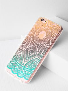 8e9ac79116 Shop Ombre Tribal Pattern Clear iPhone 6 Plus/6s Plus Case online. SheIn  offers
