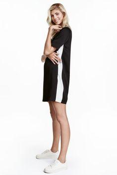 Short dress - Black/White - Ladies | H&M CA