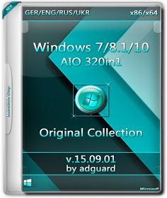 Windows 7/8 1/10 AIO (320 in 1) Adguard Version for x86 +
