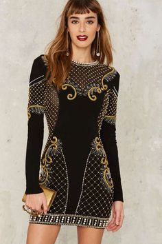 Nasty Gal Collection Love Will Never Do Embellished Dress - Clothes | Nasty Gal Collection | Valentine's Day | Cocktail Dresses | Bodycon Dresses | Black Dresses | Dresses