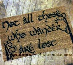 TREES not all those who wander are lost by DamnGoodDoormats