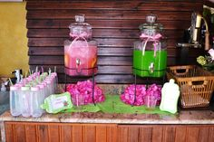 Hot Pink and Lime Green | CatchMyParty.com